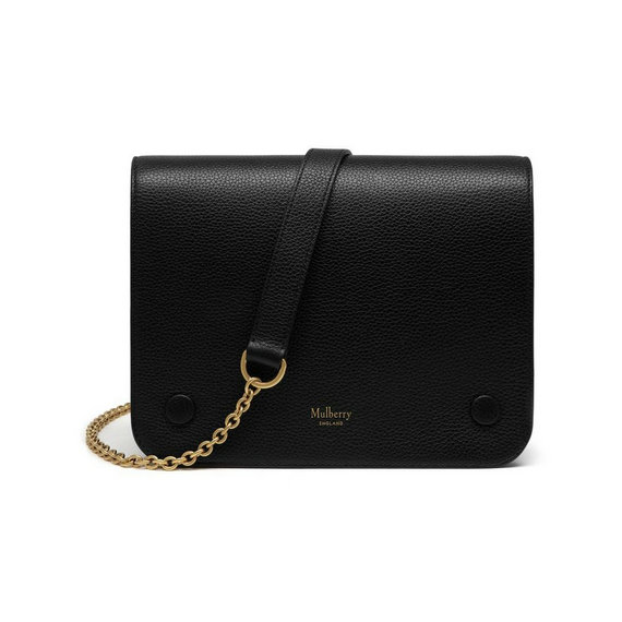 2016 Latest Mulberry Clifton Crossbody Bag Black Small Classic Grain