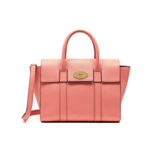 2017 Cheap Mulberry Small New Bayswater Macaroon Pink Small Classic Grain