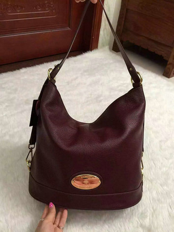 2015 Latest Mulberry Oxblood Jamie Bucket Bag for sale  2950W ... 9a390e5252703