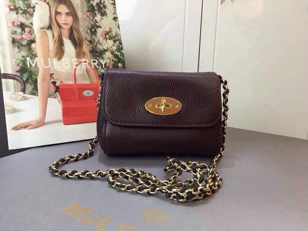 8408634563bb 2015 Spring Summer Mulberry Mini Lily Bag in Oxblood  296203 ...