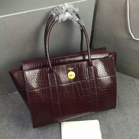 abb1c366e32 ... quality design 60f50 d2a11 2016 Latest Mulberry New Bayswater Bag in  Oxblood Polished E ...