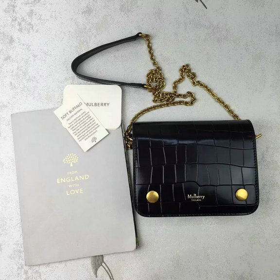 ... embossed croc print 30dcc f87bc  spain 2016 latest mulberry small  clifton crossbody bag black polished 63f07 b02d3 81d0b2d5a2b6f