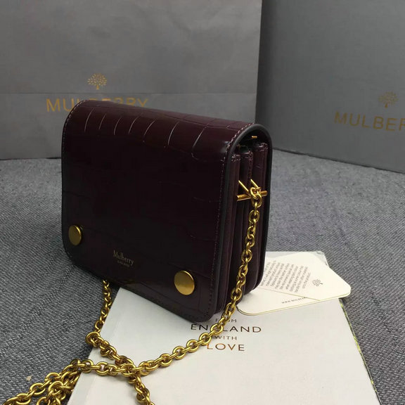90d693a70a46 2016 Latest Mulberry Small Clifton Crossbody Bag Burgundy Polished ...
