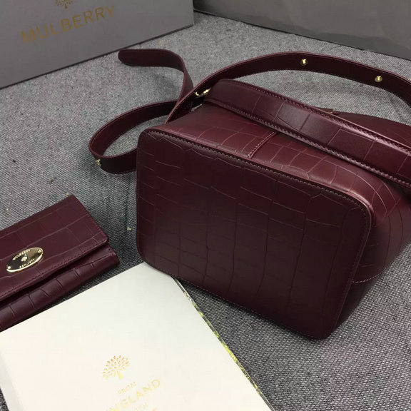 2016 Latest Mulberry Small Kite Tote in Oxblood Croc Leather  201623 ... 50bca305c34c4