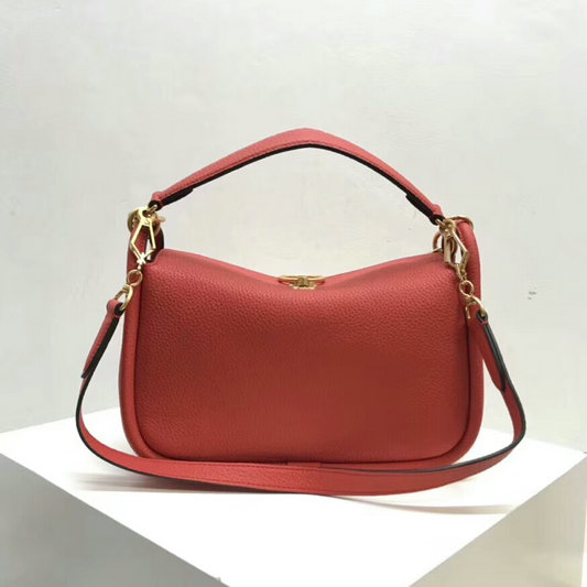 697f6cb32b68 2018 Mulberry Small Leighton Bag in Coral Rose Classic Grain Leather ...