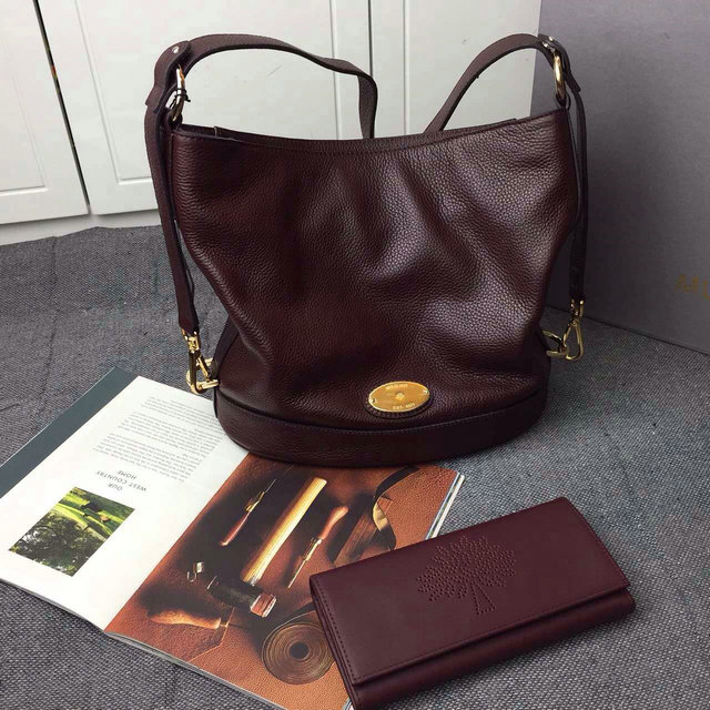 2015 Latest Mulberry Small Jamie Bucket Bag Oxblood Small Grain Leather be37fc572c9d6