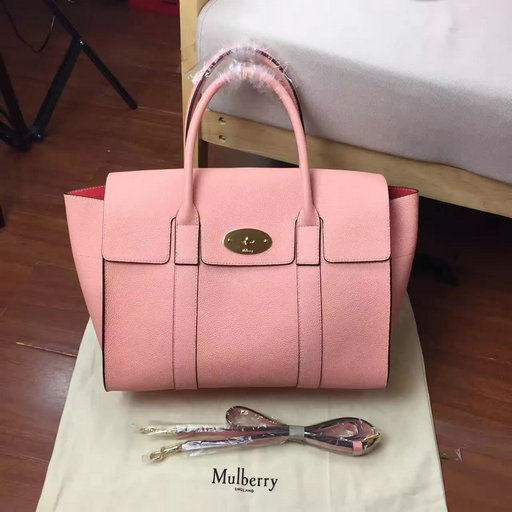 2017 Cheap Mulberry Bayswater with Strap Macaroon Pink Small Classic Grain   4229C  - £215.00   Mulberry Bags 2016-Mulberry Handbags Outlet 52ee2e90bb42c