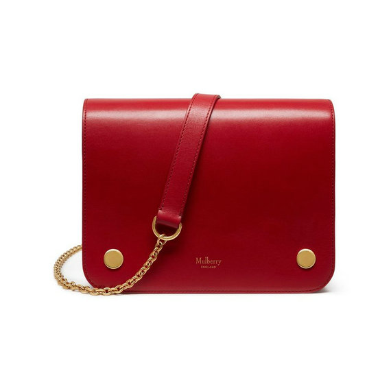 2016 Latest Mulberry Clifton Crossbody Bag Scarlet Crossboarded Calf Leather