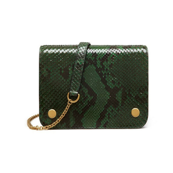 2016 Latest Mulberry Clifton Crossbody Bag Emerald Python & Nappa Leather