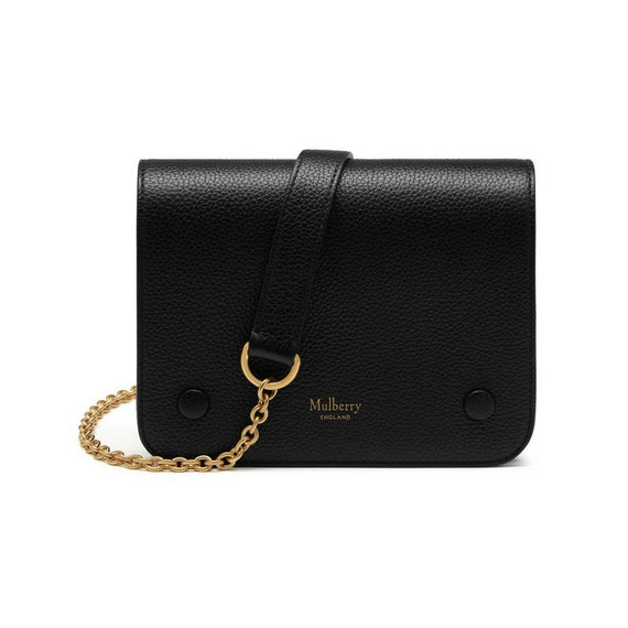 2016 Latest Mulberry Small Clifton Crossbody Bag Black Small Classic Grain