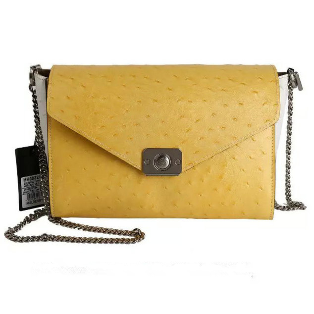 2015 Latest Mulberry Delphie Bag Camomile & White Ostrich Leather
