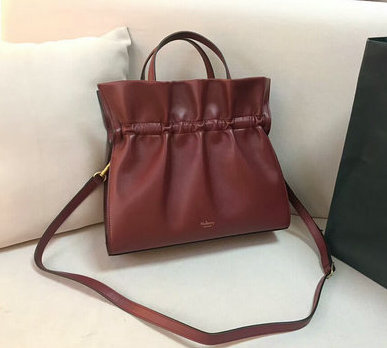 2018 Mulberry Lynton Bag in Ruby Leather